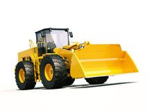Front loader. Modern front loader on light background with shadow Stock Image