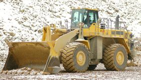 Front loader in open pit Royalty Free Stock Photo