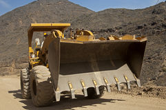 Front loader with over-sized square bucket Stock Photo