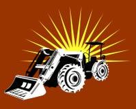 Front loader with sunburst Stock Photo