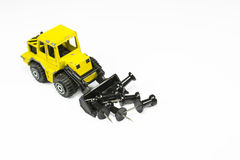 Front loader toy with pins Stock Photography