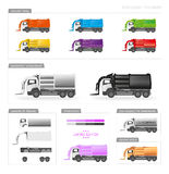 Front loader trucks vector illustration Royalty Free Stock Images