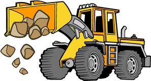 Front loader Vector Royalty Free Stock Images