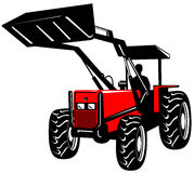 Front loader on white Royalty Free Stock Photography
