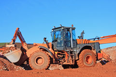 Front loader working Royalty Free Stock Photos