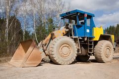 Front loaders in quarry. Czech Republic Royalty Free Stock Photography