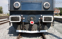 Front of a locomotive royalty free stock photo