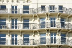 Front of luxury seaside hotel Stock Image