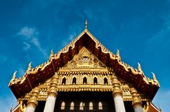 Front of Mable temple with sky Royalty Free Stock Photos