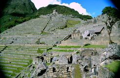 Front of Machu Picchu Stock Photo