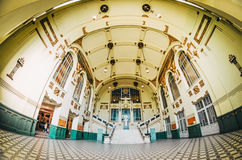 Front main hall of the Vitebsk Station, the historic interior Stock Photo