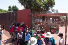 In front of Mandela House Stock Photography