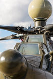 Front of an military attack helicopter Royalty Free Stock Images