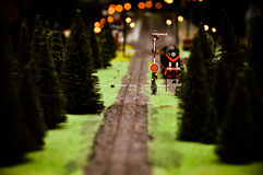 In front of the model train Royalty Free Stock Images
