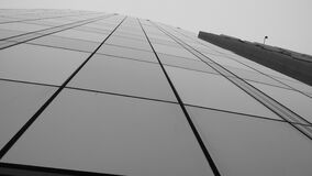 Front of modern building in black and white Royalty Free Stock Images