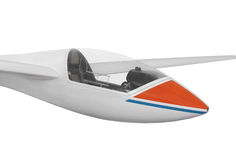 Front of a modern glider isolated. Stock Photography