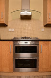 Modern oven in kitchen Royalty Free Stock Photos