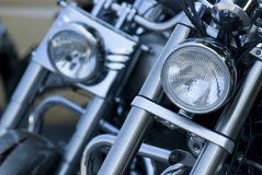 Front of motorbikes Stock Image