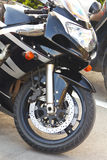 Front motorcycle wheel Royalty Free Stock Photo