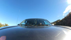 Front Mounted Driving Cam - Tijdtijdspanne stock footage