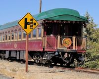 Front of The Napa Valley Wine Train stock image