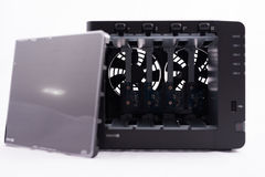 Front of  NAS ( Network AttachedSystem ) Stock Image