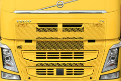Front of a New Yellow Volvo FH Truck stock image