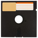 Front o a black floppy disk Stock Photography