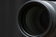 Front objective of telephoto lens Royalty Free Stock Photography