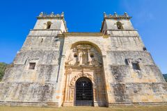 Front Of Church Of Ciguenza In Cantabria Royalty Free Stock Image