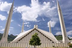 Front Of Faisal Mosque Royalty Free Stock Image