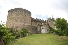 Front Of Mombeltran Castle Royalty Free Stock Image