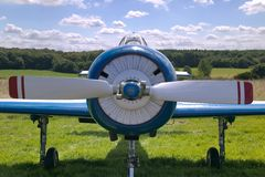Front Of Old Plane Royalty Free Stock Images