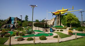 Front Of Professional Hackers Mini Golf In Branson, Missouri Royalty Free Stock Photos
