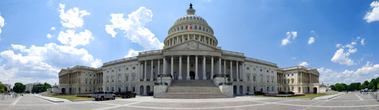 Front Of The U.S. Capitol Building In Washinton D.C. Royalty Free Stock Image