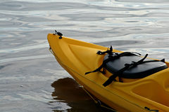 Front Of Yellow Kayak Stock Photography