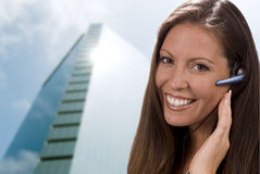 Front Office Girl. Beautiful young corporate receptionist or customer service rep or admin.  Shallow dof Stock Images
