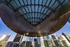 Front office of modern buildings. Front office view on the the Business district, La Defense, West Paris, France Royalty Free Stock Photo