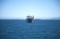 Front oil tanker boat Royalty Free Stock Photos