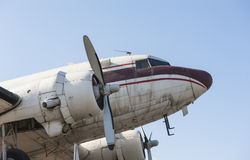 Front of old aircraft Stock Photo