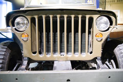 Front of old american jeep Royalty Free Stock Photography