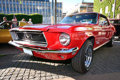 Front of an old american retro car mustang Royalty Free Stock Photography