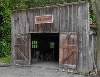 Front of an old blacksmith shop Stock Photo