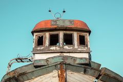 Front of an old boat royalty free stock photography