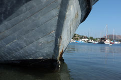Front of an old boat Stock Photography