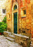 Front of old building in Korcula Royalty Free Stock Photo
