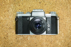 Front of old camera on Royalty Free Stock Images