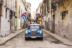 Front of old car on street of Havana, Cuba Royalty Free Stock Images