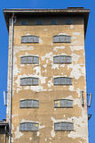 Front of an old factory building Royalty Free Stock Image