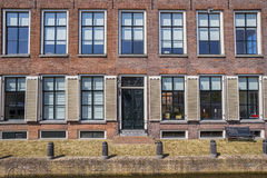 Front of an old house in historical city Hindeloopen Stock Photo